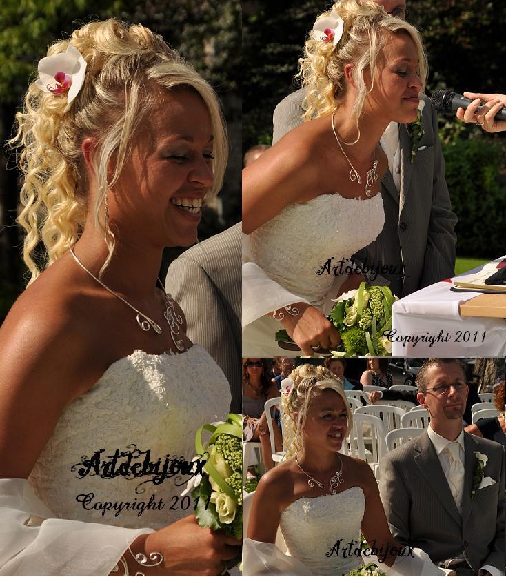 Magnifique mariée parure de mariage sublimée par votre beauté