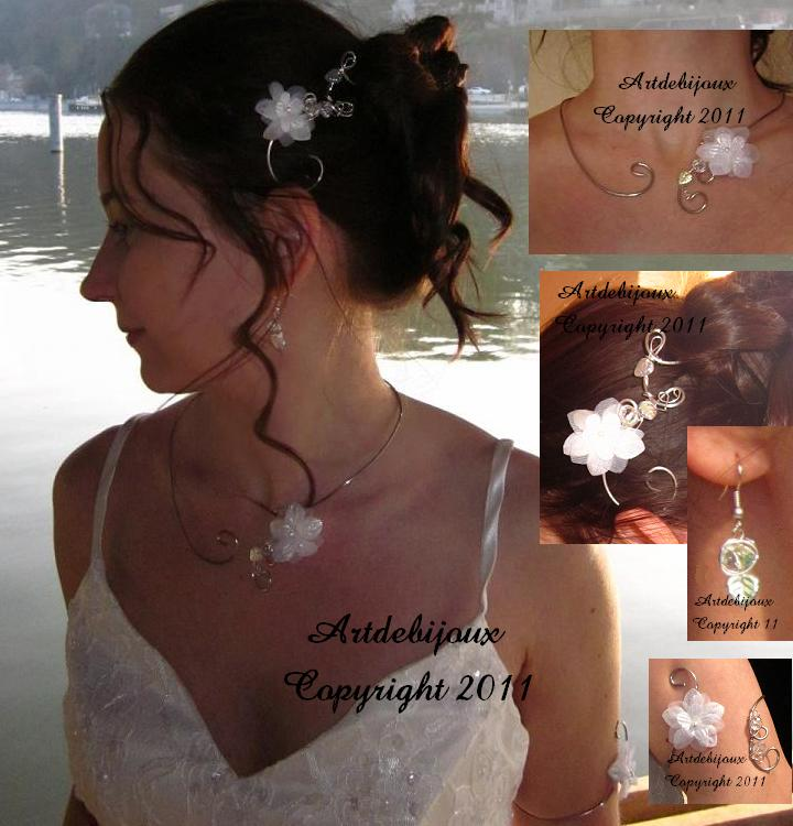 montage blanc irisé mariage mariée