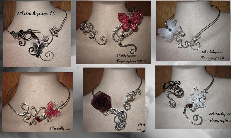 colliers mariage papillons